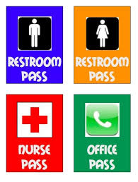 Printable Restroom Passes Mwb Online Co