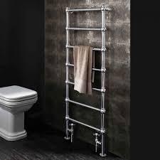bauhaus belle floorstanding heated chrome towel rail