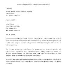 Rental Lease Letters End Of Lease Letter Template Lease Termination Letter Sample Lease