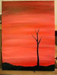 tree painting easy tree silhouette painting 3 palm tree painting easy