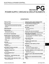 nissan rogue power supply ground circuit elements 2014 nissan rogue power supply ground circuit elements section pg 78 pages