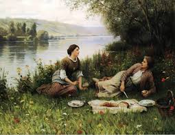 the athenaeum normandy garden also known as le gouter daniel ridgway knight date unknown private collection painting oil on canvas height cm in