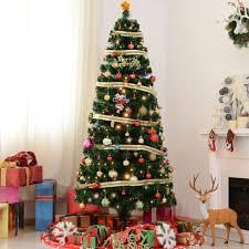 pine artificial christmas tree 7 5 ft