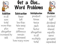 Math Word Problem Key Words Chart Throw Away The Key Words In Math Tronyas Truth