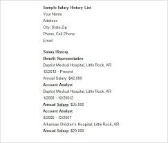 9 Salary History Resumes Proposal Bussines