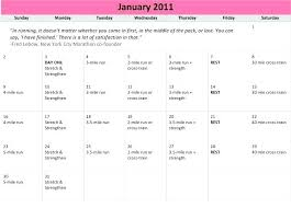 Running Training Calendar Template Schedule 8 Free Word Excel ...