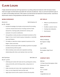 Manicurist Resume Sample manicurist resume Besikeighty24co 1