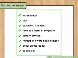 how to write a literary commentary examples wikihow image titled write a literary commentary step 7