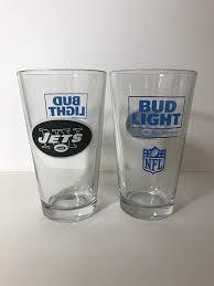 16 Ounce Bud Light Amazon Com Bud Light New York Jets Retro Logo 16