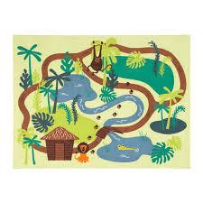 ikea djungelskog childrens rug low pile jungle kids mat carpet active play 1 of 4free
