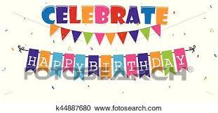 Celebrate Banner Birthday Celebration Banner Clipart K44887680 Fotosearch