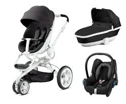 quinny moodd pushchair carrycot black irony and maxi cosi cabriofix car seat
