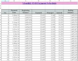 Variable Payment Loan Calculator Excel Car Amortization Schedule ...