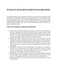 A Complete Guide On English Punctuation Rules And How To Use Free Onl