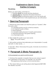 Explanatory Essay Format Example Of Outline For Research Paper Mla