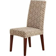 Taupe Dining Room Chairs Stretch Short Dining Room Chair Slipcover 95pct Polyester 5pct