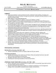 Sample Resume For Management Position Regular Sample Resume Incident Management Incident Management Resume 20