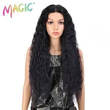 <b>MAGIC Hair Synthetic Lace</b> Front Wig Long Wavy Hair 32 Inch ...
