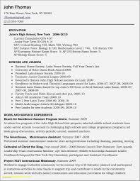 Sample Resume High School Student Summer Job New Build A High School