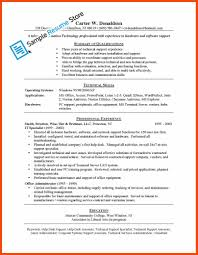Computer Support Specialist Resume Program Format