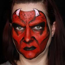 devil face paint stacey perry