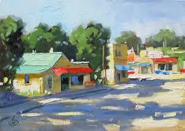 small town america urban plein air by tom brown