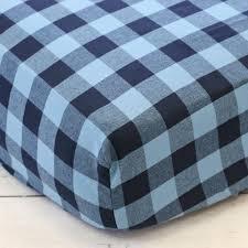 best brice s navy buffalo check perless crib bedding buffalo plaid crib sheet