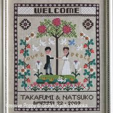 Cross Stitching Patterns Extraordinary Gera By Kyoko Maruoka Happy Wedding Welcome Cross Stitch Pattern
