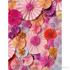 Paper Flower Background Vinyl Photography Background Colorful Paper Flowers Newborn Baby Shower Backdrop Kids Birthday Party Photo Booth Backdrops