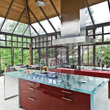 glass countertop kitchen heat resistant wear resistant