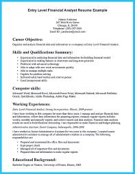Entry Level Financial Analyst Resume Free Resume Example And