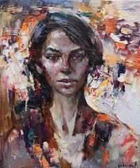<b>Abstract girl portrait painting</b> #14 by Anastasiya Valiulina (2018 ...