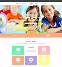 Kids School Website Template Education Portal Website Template Education Website Template