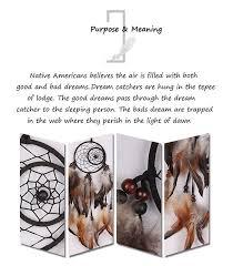 The Purpose Of Dream Catchers 100 Handmade Native American Dream Catcher Wall Hanging DEEP 92