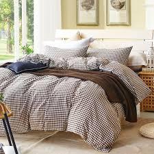 gray plaid duvet cover set for single or double bed 100 cotton bedcover plaid bedding set duvet cover sheet pillowcase blue duvet cover king bedding