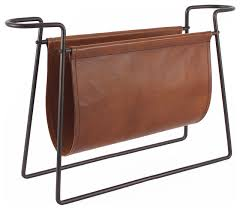 Brown Leather Magazine Holder Classy Connaught Leather Magazine Rack Industrial Magazine Racks By