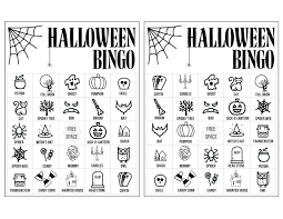 Printable witch shoes and broom halloween coloring page at holiday printable connect the dots halloween haunted house coloring page at point a point. Halloween Bingo Printable Game Cards Template Paper Trail Design