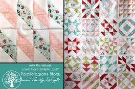 Parallelogram Quilt Pattern - Best Accessories Home 2017 & Parallelograms Block Into The Woods Layer Sler Quilt Adamdwight.com