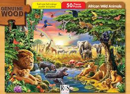 rgs puzzle african wild animals 50 pieces