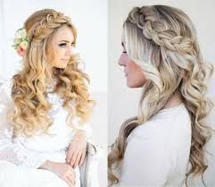 Classy Choice Of Half Up And Half Down Wedding Hairstyles For Bridal Hairstyles Down