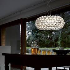 description round modern crystal chandelier bedroom lamp beads