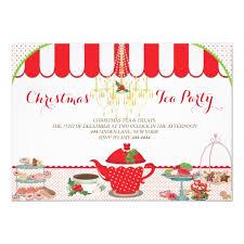 Christmas Tea Party Invitations Christmas Tea Party Invitation