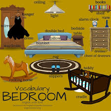 bedroom furniture names in english. Vocabulary -BEDROOM, ESL, EFL, English Vocabulary, Furniture, Bedroom, Bedroom Furniture Names In
