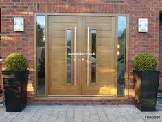 modern double entry doors. Contemporary Double Doors FHB With Vision Panels And Fully Glazed Sidelights European Oak Modern Entry