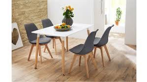 Essgruppe Mit Tisch Grönland 120x80 Und 4 Stühle Borkum Grau