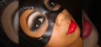 how to apply a catwoman mask with makeup for makeup wonderhowto