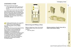fuses citroen berlingo multispace 2010 2 g owner's manual Citroen Berlingo Van at Citroen Berlingo Multispace Fuse Box Diagram