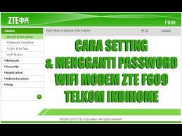 Karena alasan untuk mengamankan modem indihome, terkadang ketika kita mengganti default password admin modem zte f609 atau password admin berubah sendiri. Cara Setting Dan Mengganti Password Modem Zte F609 Telkom Indihome Terbaru 2018 Youtube