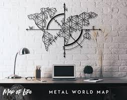 map of life metal world map metal