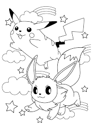 Pokemon Coloring Pages Of Eevee Evolutions X The Art Jinni
